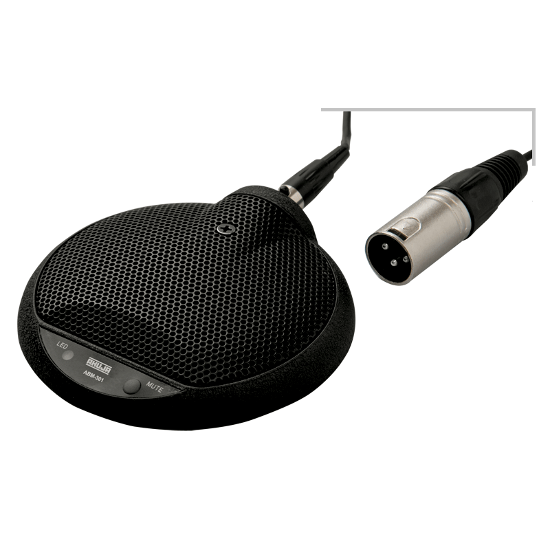 PA BOUNDARY LAYER MICROPHONE FOR CONFERENCE TABLES, VIDEO CONFERENCE USE - ABM301M