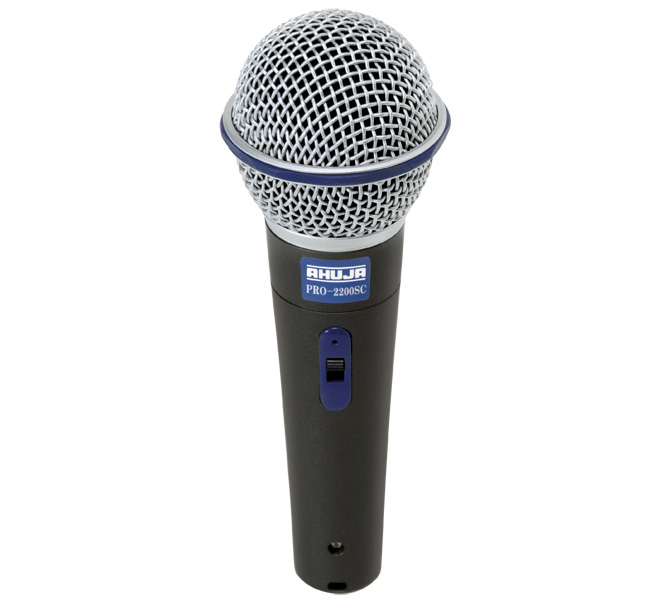 GREAT PERFORMANCE PA MICROPHONE FOR LIVE LOCAL & MUSIC HARDENED GRILLE WITH ANTI ROLL RUBBER RING - PRO2200SC