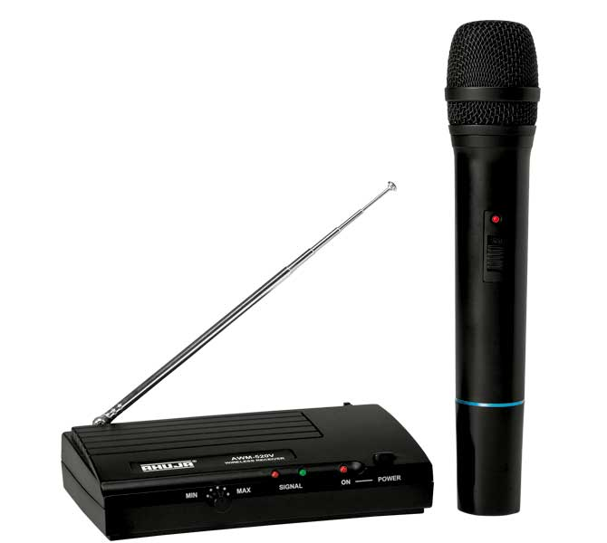 ELEGENT & AFFORDABLE SINGLE CHANNEL VHF WIRELESS MICROPHONE IDEAL FOR PA APPLICATIONS,STAGE ETC - AWM520VH