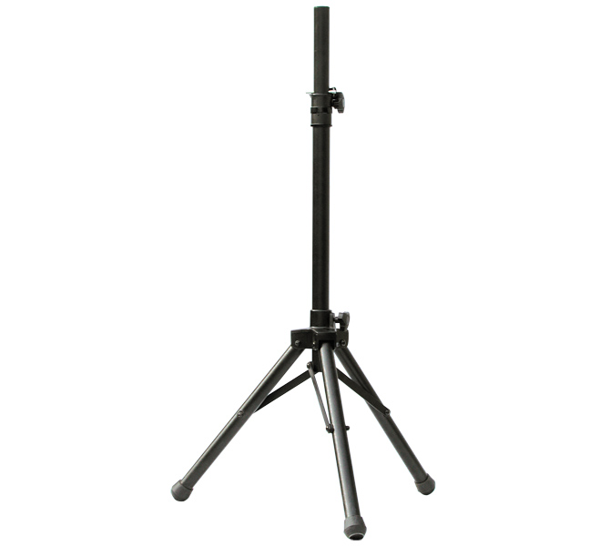 "PA ALUMINIUM SPEAKER STAND HEIGHT 2.5""-3.5"" LOAD CAPACITY 25.0KG - STA100"