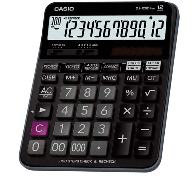 CASIO DESKTOP CALCULATOR 12 DIGIT - DJ-120PLUS