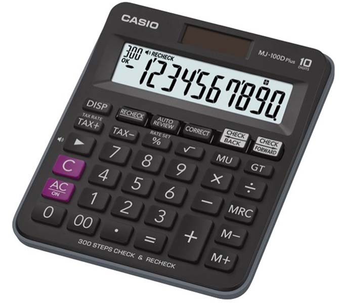 CASIO DESKTOP CALCULATOR 10 DIGIT - MJ-100D PLUS