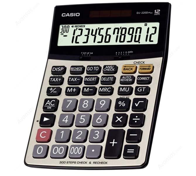 Casio dj-220d plus desktop calculator, 12 digit, extra large.