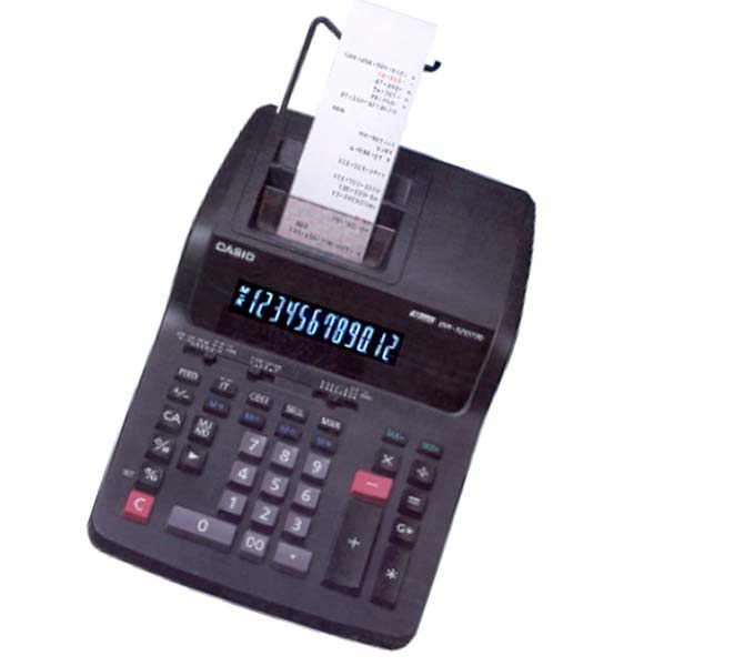 CASIO 12 DIGITS PRINTER CALCULATOR - DR-120R-BK