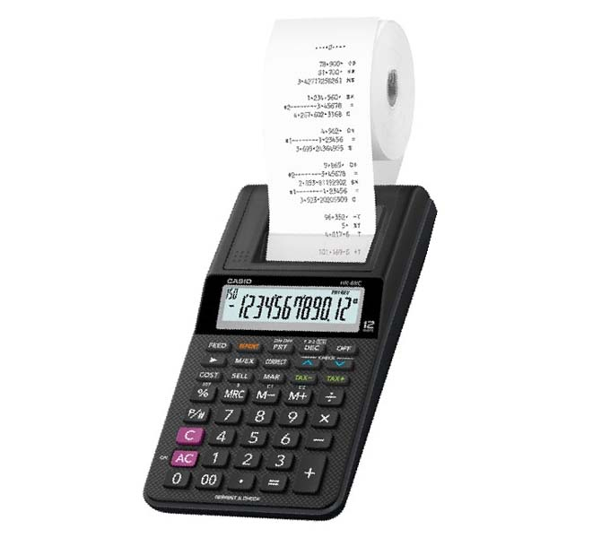CASIO 12 DIGITS PRINTER CALCULATOR - HR-8RC