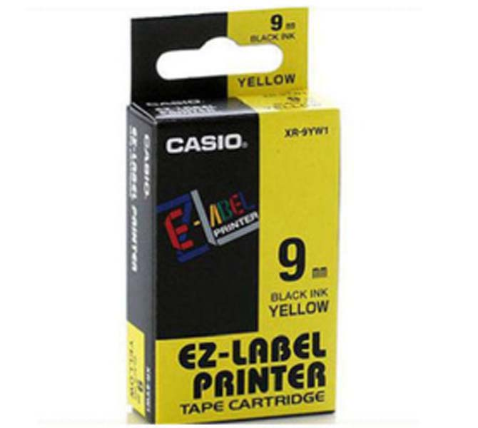 LABLE PRINTER TAPE CARTRIDGE BLACK INK YELLOW - XR-9YW1