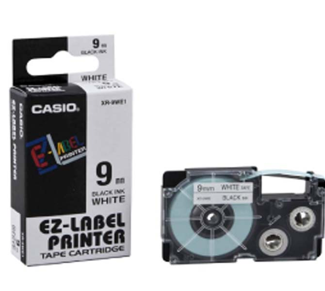 LABLE PRINTER TAPE CARTRIDGE BLACK INK WHITE - XR-9WE1