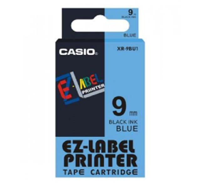 LABLE PRINTER TAPE CARTRIDGE BLACK INK BLUE - XR-9BU1