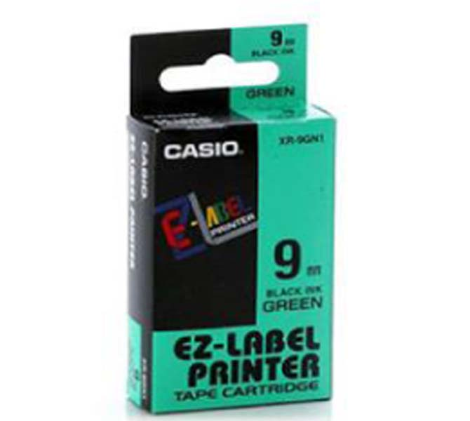 LABLE PRINTER TAPE CARTRIDGE BLACK INK GREEN - XR-9GN1