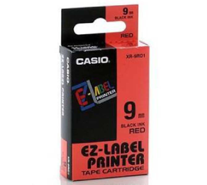 LABLE PRINTER TAPE CARTRIDGE BLACK INK RED - XR-9RD1
