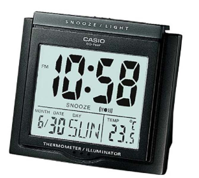 CASIO DESKTOP CLOCK - DQ-750F-1DF