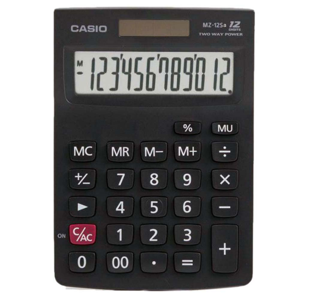 CASIO 12 DIGITS POCKET CALCULATOR - MZ12Sa