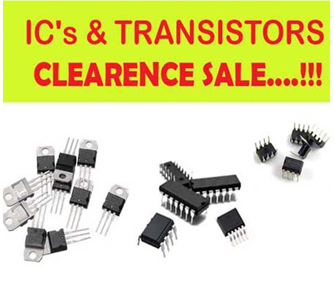 IC'S & TRANSISTORS CLEARENCE SALE....!!!!!!!!!!!!!!