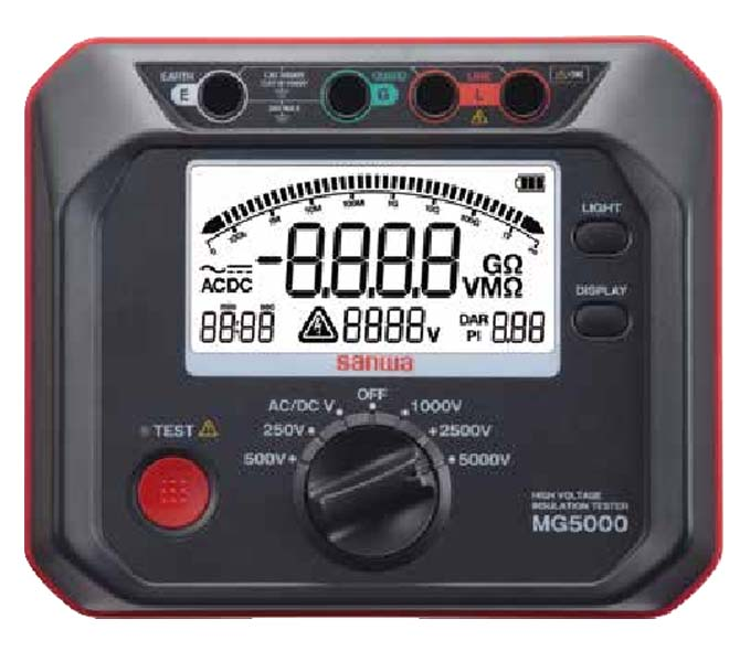 SANWA HI VOLTAGE INSULATION RESISTANCE TESTERS - MG-5000