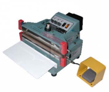 VERTICAL FOOT TYPE AUTOMATIC SEALER FOR ALUMINUM FOIL BAGS AND GUSSET BAGS - ME-305FDA