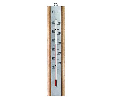 WHITE PLASTIC THERMOMETER