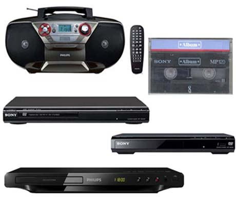 DVD Players,Video Cassete Tapes